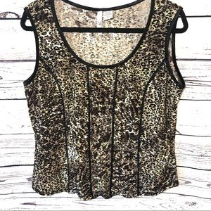 Sami & Jo Animal Print Sleeveless Top Size XL